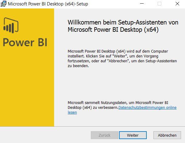 Installation-Power-BI-desktop-Installationsassistent