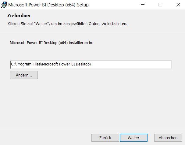 Installation-Power-BI-desktop-Zielverzeichnis