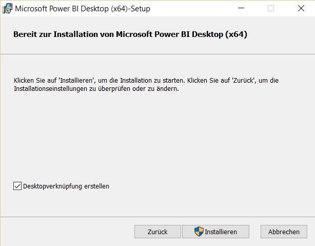Installation-Power-Bi-desktop-Installation-starten